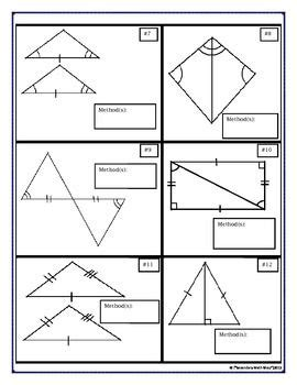 Triangle Congruence Proofs Worksheet by Congruent Triangles Proving Triangles Vocabulary Cut