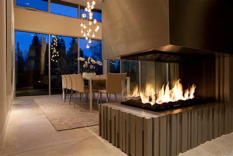 4 peninsula custom gas fireplace contemporary dining