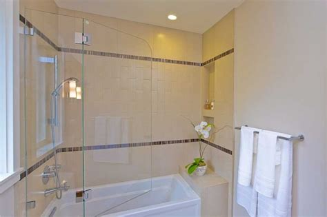 shower doors over bathtub bathroom shower over tub swinging frameless door niche