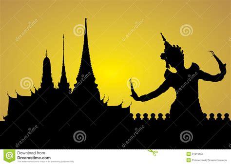 thai dance woman  temple royalty  stock