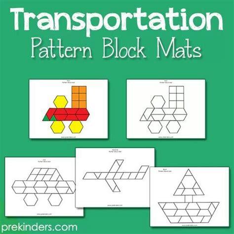 Pattern Block Mats by Pattern Block Mats Kindergarten Math Centers