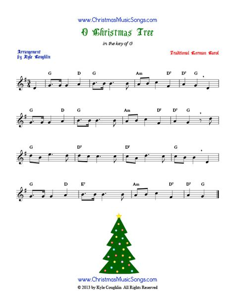 o christmas tree free sheet music