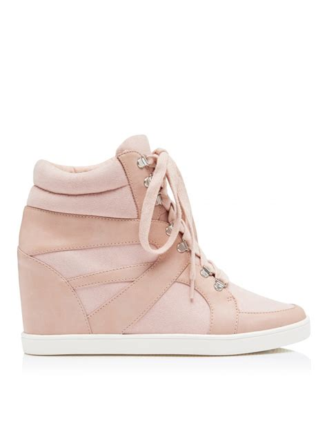 where can i find wedge sneakers lace up wedge sneakers blush womens fashion