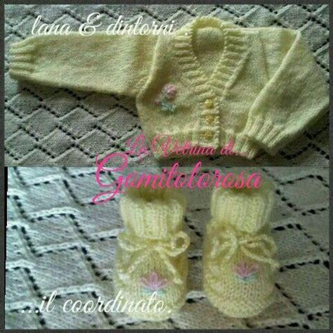 pattern maglia ai ferri il coordinato scaldacuore e scarpine a maglia ai ferri
