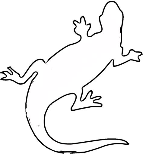 lizard template for clipart best clipart best