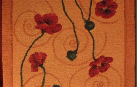 Poppies Rug by Woolwinds Poppy Rug
