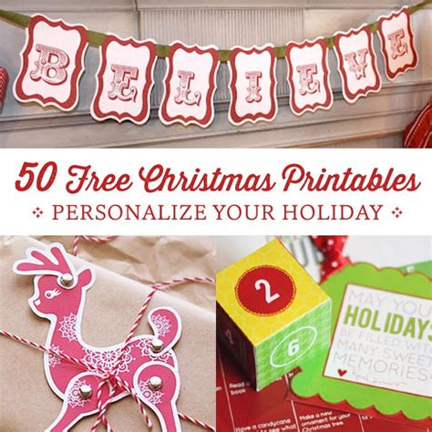free printable christmas decorations 50 free printables personal creations