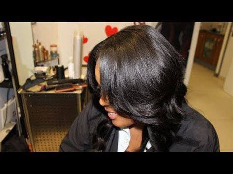 yay 2 part vixen weave install my first time doing natural part weave install with 3 bundles wavy virgin b