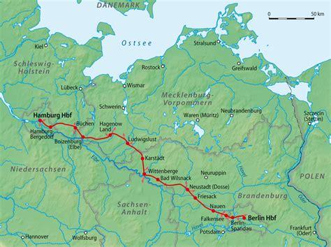 Hamburg Karte by Bahnstrecke Berlin Hamburg