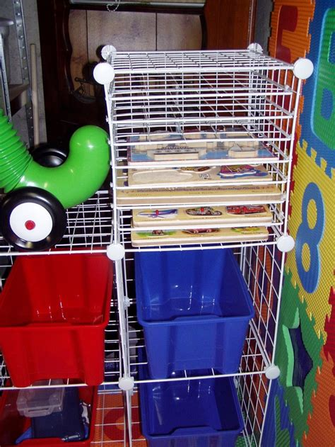 puzzle storage puzzle rack diy with storage cubes playroom storage organization