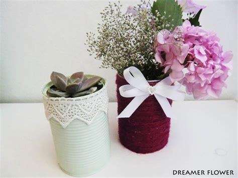 vasi di latta fai da te piccoli vasi di fiori con lattine 20 idee