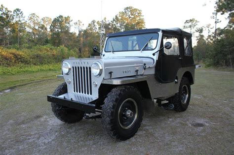 Jeep Wrangler Hoods For Sale 1954 Jeep Willys Cj 3 High 2 2l Cj3 For Sale
