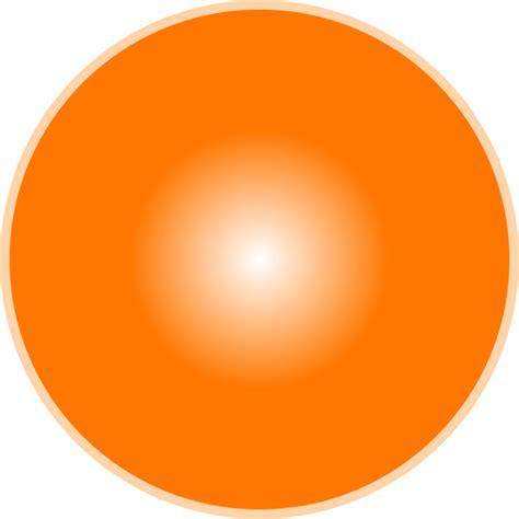 Led Circle Light by 3d Light Orange Ball Clip Art At Clker Com Vector Clip