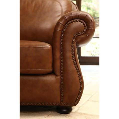 camel leather reclining sofa abbyson living erickson leather sofa in camel brown sk