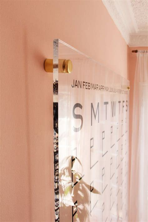 dtbd pure wall calendar large lucite white board dry