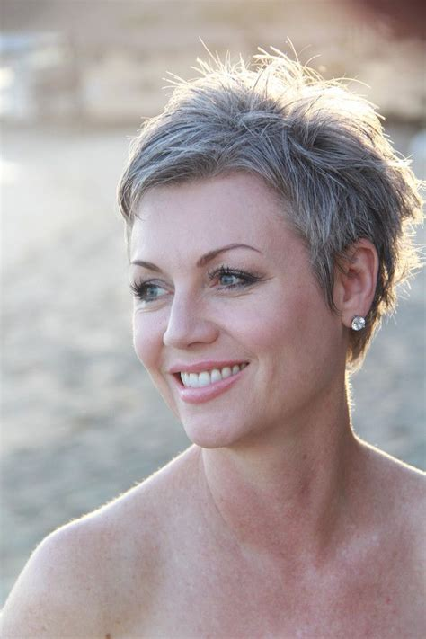 short cuts for grey thin hair short grey hairstyles yahoo image search results