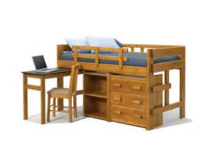 furniture mini loft bunk bed with desk and dresser