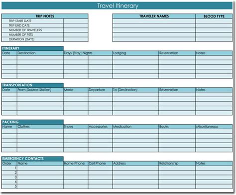excel itinerary template free itinerary templates to perfectly plan your trips
