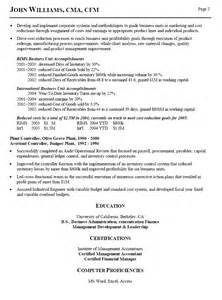 Assistant Controller Sle Resume by Interesting Controller Resume Exles For Employment Vntask
