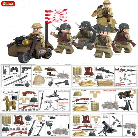 Mainan Bricks Army Ww Ii Set By Doll new arrival world war ii the battle of taierzhuang building brick ww2 japanese