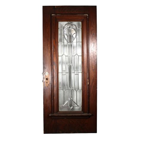 Magnificent Antique 36 Exterior Door With Beveled Leaded Beveled Glass Front Door