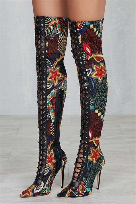 colorful thigh high boots them s is privileged fonesca multi color thigh high
