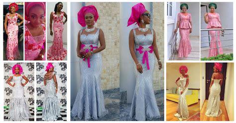 aso ebi styles invogue 10 hot wedding latest aso ebi styles amillionstyles com