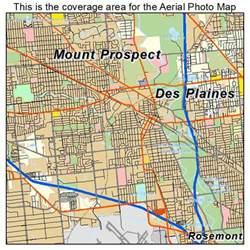 des plaines il aerial photography map of des plaines il illinois