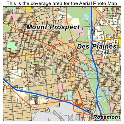 Des Plaines Il | aerial photography map of des plaines il illinois