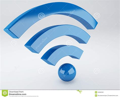 3d wireless wifi icon 3d illustration stock illustration image