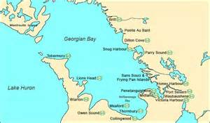 where is bay on a map of canada attitude s adventures georgian bay
