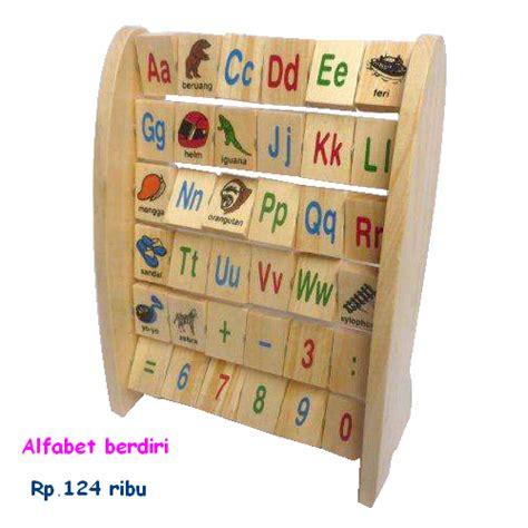 Alphabet Berdiri Indonesia Untuk Anak mainan kayu edukatif belajar membaca dan berhitung