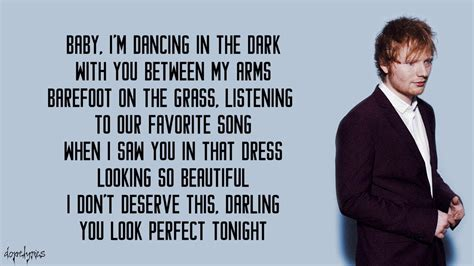 ed sheeran perfect lyrics terjemahan perfect ed sheeran lyrics youtube