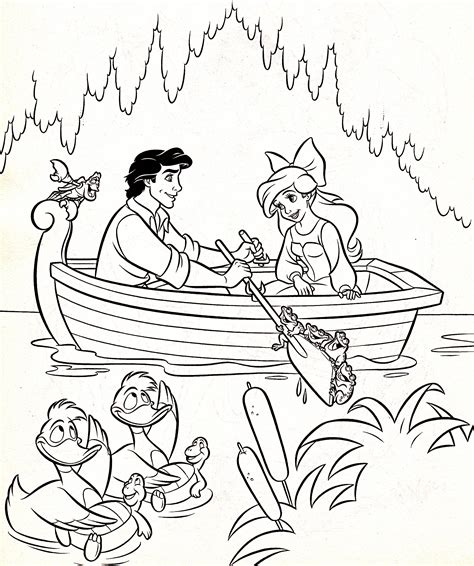 disney s the little mermaid colouring sheets cute kawaii walt disney coloring pages sebastian prince eric
