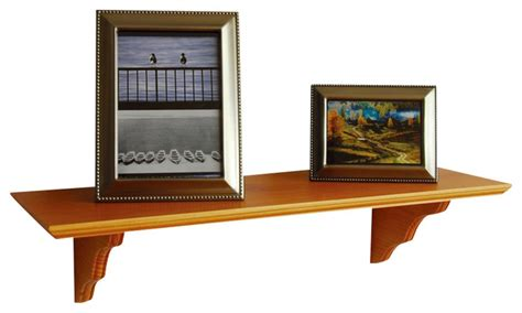 classic solid wood wall shelf display and