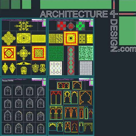 islamic pattern autocad file 340 islamic architecture ornament motifs and arches for
