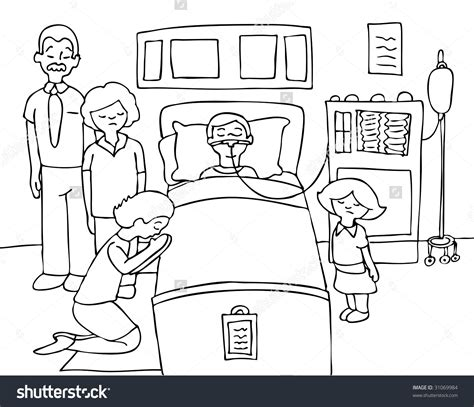 doodle draw design hospital drawing new bed drawing respiratory