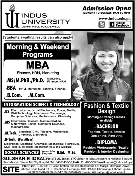 Bs Mba Programs by Indus Karachi Admission 2017 In Bs Bba Ms Mba B