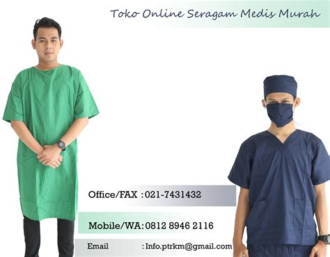 Jas Dokter Dua Saudara Laki Laki Lengan Panjang daftar harga seragam medis murah rasani medika