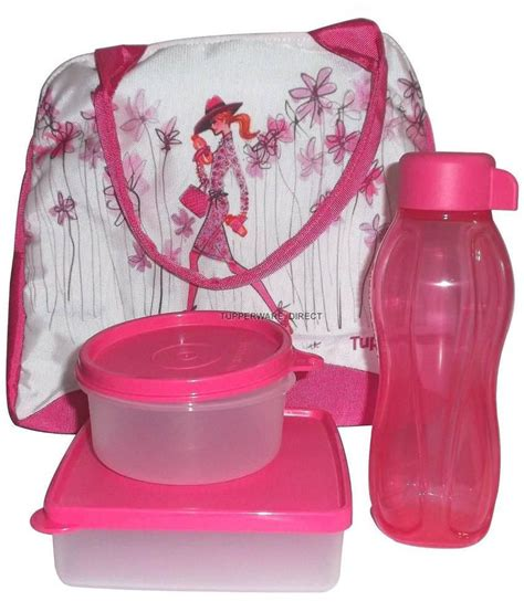 tupperware pink plastic lunch box set buy at best