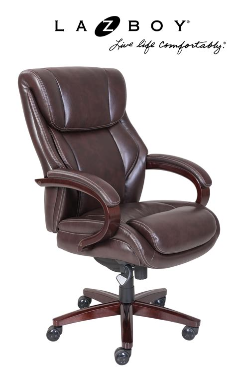 la z boy armchair la z boy bellamy comfort core traditions executive office chair coffee brown