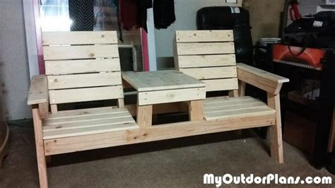 diy double chair bench  table plans myoutdoorplans