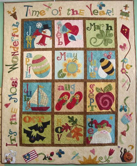 Calendar Quilts Block Of The Month 16 Best Blessings Images On