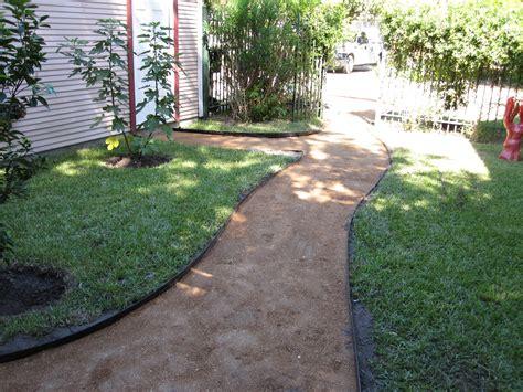 decomposed granite patio backyard walkway corner garden