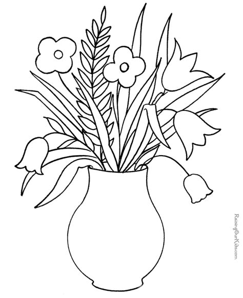 coloring pictures of flowers for preschoolers flower coloring pages for preschoolers az coloring pages