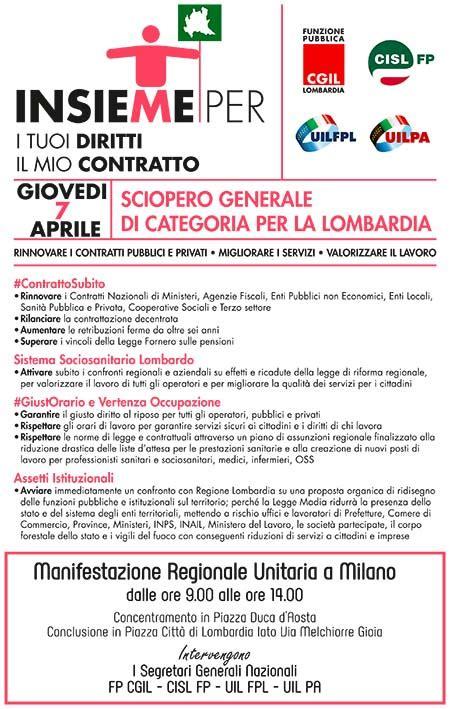 caaf cgil pavia sciopero generale di categoria per la lombardia uil fpl