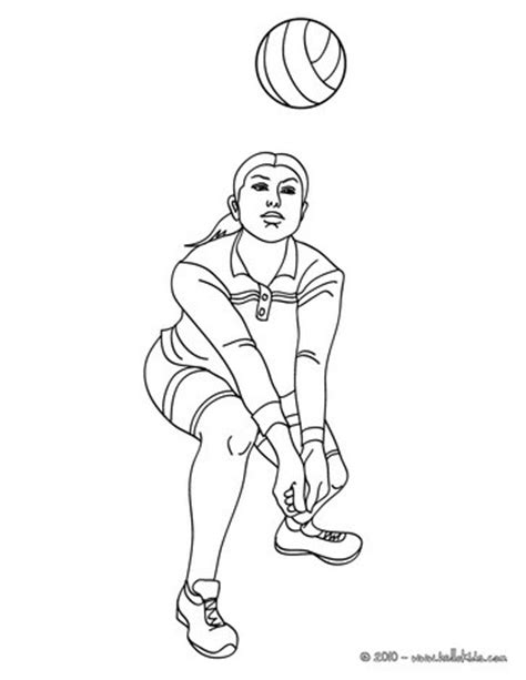 coloring pages of a volleyball player volleyball forearm pass coloring pages hellokids com