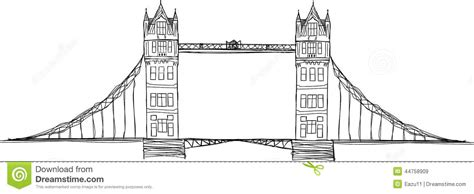 Häuser Zeichnen 3d by Tower Bridge Drawing Sketch Coloring Page