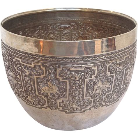 Plate Planter by Cambodian Silver Plate Planter From Rubylane Sold On Ruby