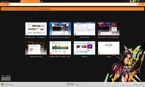 google themes name google chrome theme yozora mikazuki randomness thing